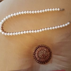 Necklace real pearl